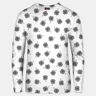 Thumbnail image of Light Gray Clover Unisex sweater, Live Heroes