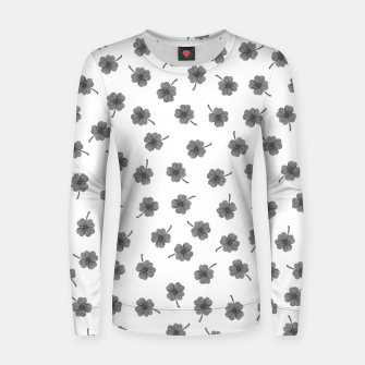 Thumbnail image of Light Gray Clover Women sweater, Live Heroes