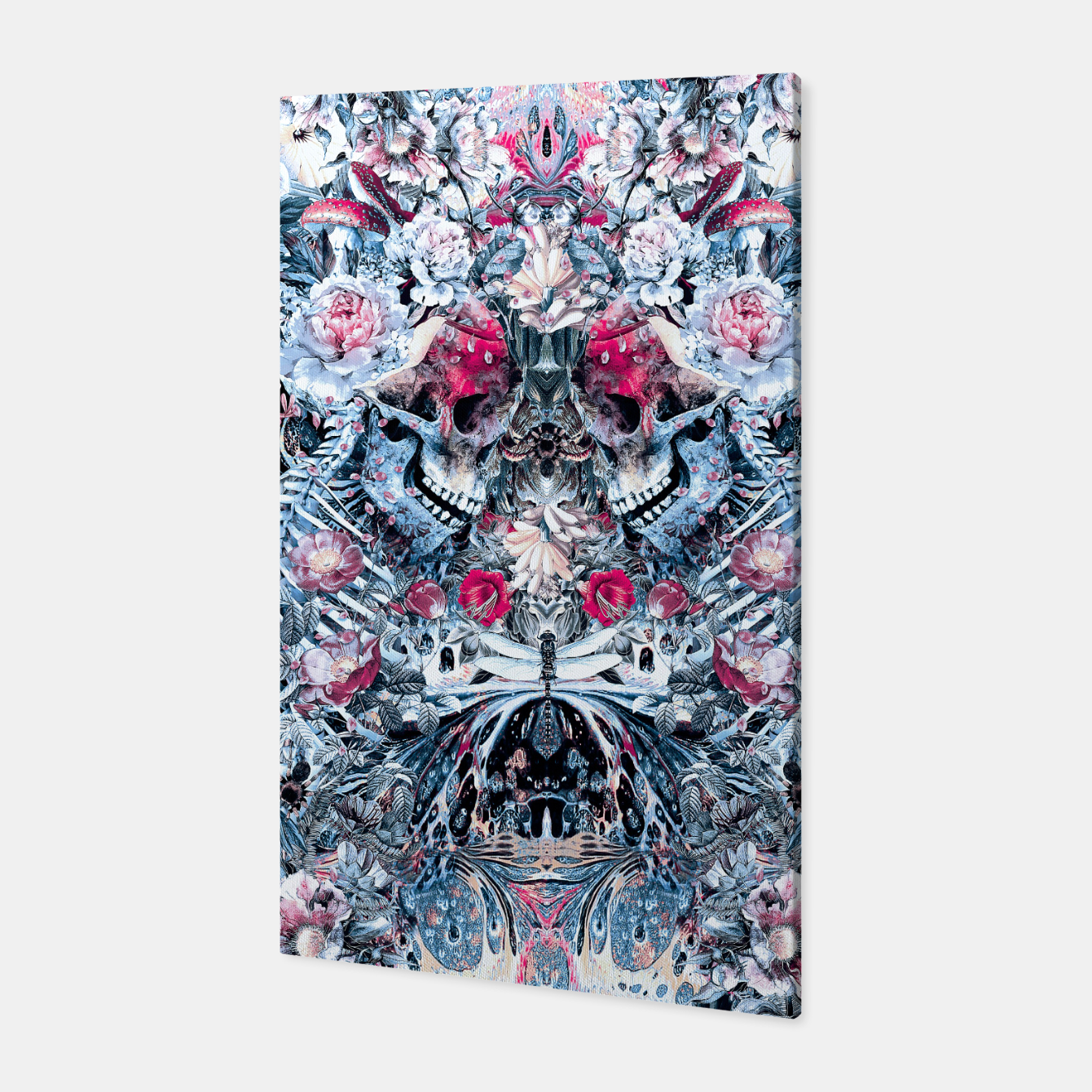 Image of Twin Skull Canvas - Live Heroes