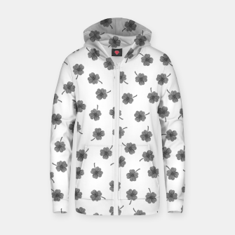 Thumbnail image of Light Gray Clover Zip up hoodie, Live Heroes