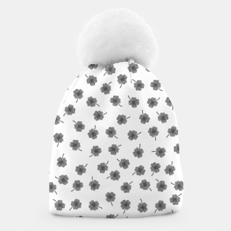 Thumbnail image of Light Gray Clover Beanie, Live Heroes