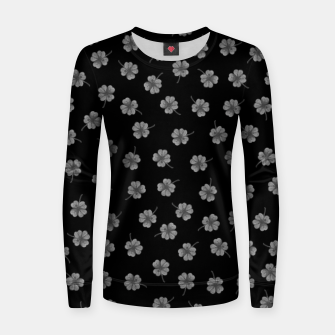 Thumbnail image of Dark Gray Clover Women sweater, Live Heroes