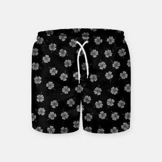 Thumbnail image of Dark Gray Clover Swim Shorts, Live Heroes