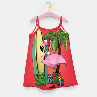 Imagen en miniatura de Xmas Flamingo Girl's dress, Live Heroes