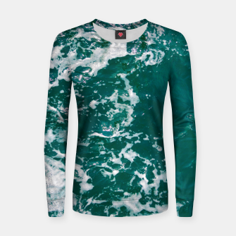 Thumbnail image of Emerald waters Women sweater, Live Heroes