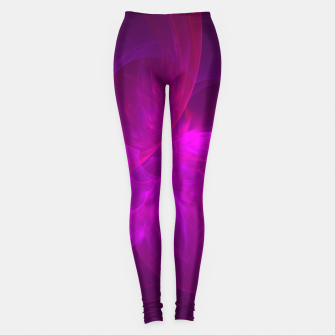 Miniaturka Magenta Illusion Abstract Fractal Art Design Leggings, Live Heroes