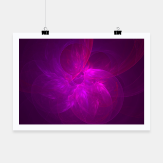 Miniaturka Magenta Illusion Abstract Fractal Art Design Poster, Live Heroes