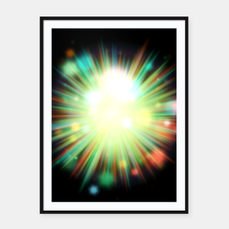 Thumbnail image of Rays Of Light - 01 Framed poster, Live Heroes