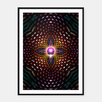 Thumbnail image of Orb Star Mesh Framed poster, Live Heroes
