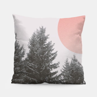 Miniatur Winter trees Pillow, Live Heroes
