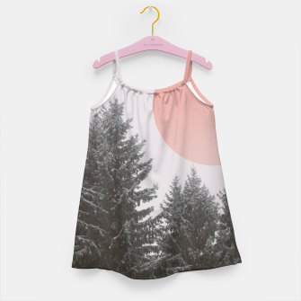 Miniatur Winter trees Girl's dress, Live Heroes