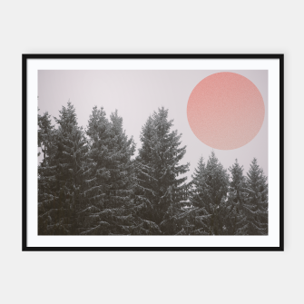 Miniatur Winter trees Framed poster, Live Heroes