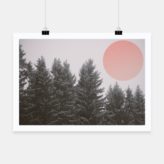 Miniatur Winter trees Poster, Live Heroes
