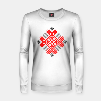 Miniatur Rodimich - Antlers - Slavic Symbol #1 Women sweater, Live Heroes