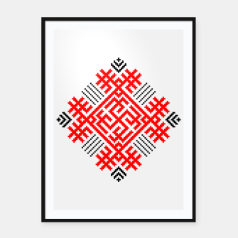 Thumbnail image of Rodimich - Antlers - Slavic Symbol #1 Framed poster, Live Heroes