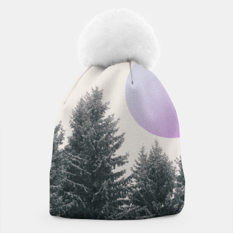Miniatur Winter trees 2 Beanie, Live Heroes