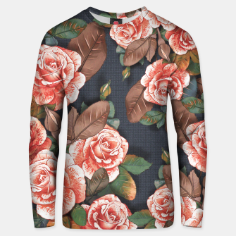 Thumbnail image of Blooming of living coral roses Unisex sweater, Live Heroes
