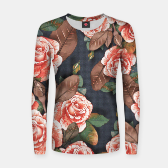 Thumbnail image of Blooming of living coral roses Women sweater, Live Heroes