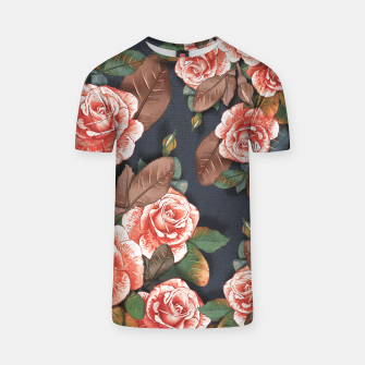 Thumbnail image of Blooming of living coral roses T-shirt, Live Heroes