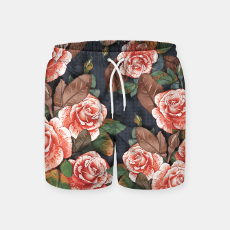 Thumbnail image of Blooming of living coral roses Swim Shorts, Live Heroes