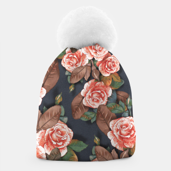 Thumbnail image of Blooming of living coral roses Beanie, Live Heroes