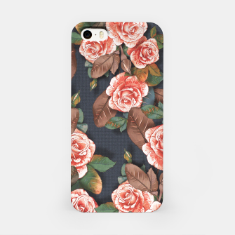Thumbnail image of Blooming of living coral roses iPhone Case, Live Heroes