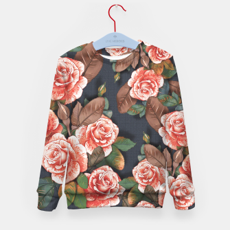 Thumbnail image of Blooming of living coral roses Kid's sweater, Live Heroes