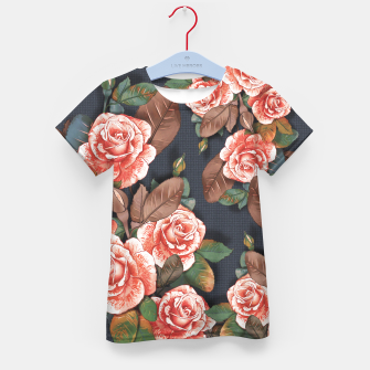 Thumbnail image of Blooming of living coral roses Kid's t-shirt, Live Heroes
