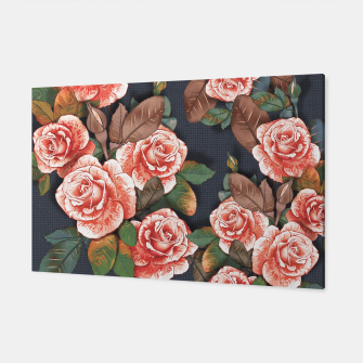 Miniaturka Blooming of living coral roses Canvas, Live Heroes