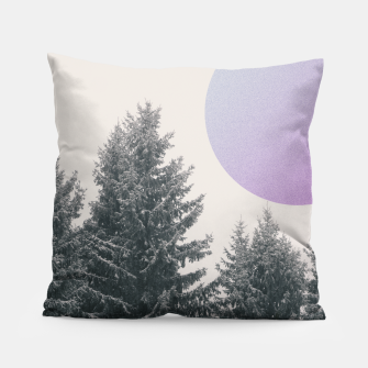 Miniatur Winter trees 2 Pillow, Live Heroes