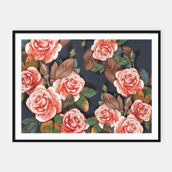 Miniaturka Blooming of living coral roses Framed poster, Live Heroes