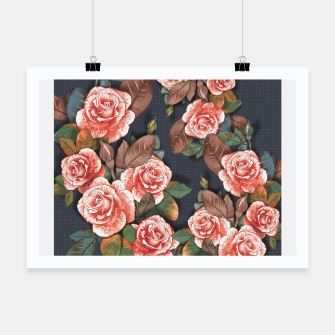 Miniaturka Blooming of living coral roses Poster, Live Heroes