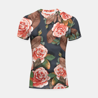 Miniaturka Blooming of living coral roses Shortsleeve rashguard, Live Heroes