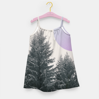 Miniatur Winter trees 2 Girl's dress, Live Heroes