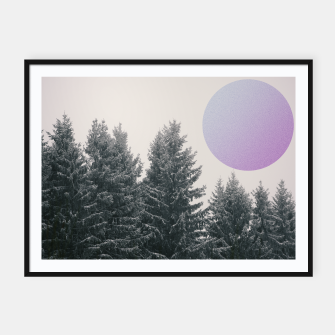 Miniatur Winter trees 2 Framed poster, Live Heroes