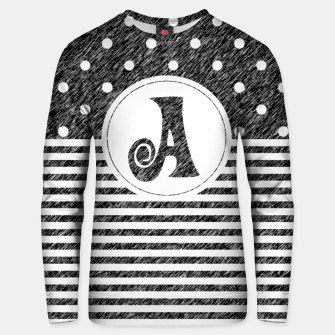 Thumbnail image of Monogram Cute Polka Dots And Stripes  Unisex sweater, Live Heroes