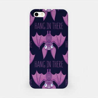 Miniatur Hang In There Wacky Vampire Bat iPhone Case, Live Heroes