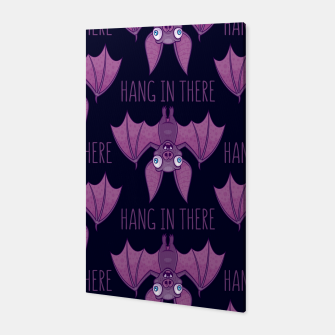Miniatur Hang In There Wacky Vampire Bat Canvas, Live Heroes