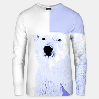 Thumbnail image of polar ice bear vector art cool blue Unisex sweater, Live Heroes