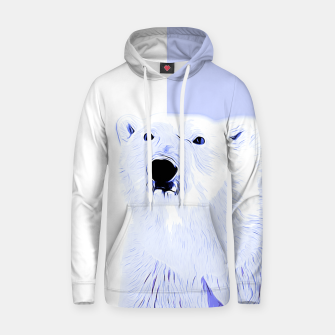 Thumbnail image of polar ice bear vector art cool blue Hoodie, Live Heroes