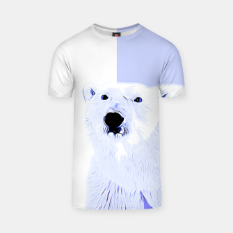 Thumbnail image of polar ice bear vector art cool blue T-shirt, Live Heroes