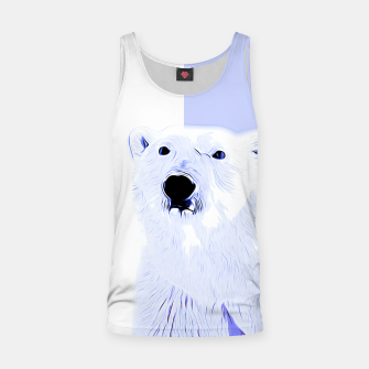 Thumbnail image of polar ice bear vector art cool blue Tank Top, Live Heroes