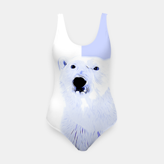 Thumbnail image of polar ice bear vector art cool blue Swimsuit, Live Heroes