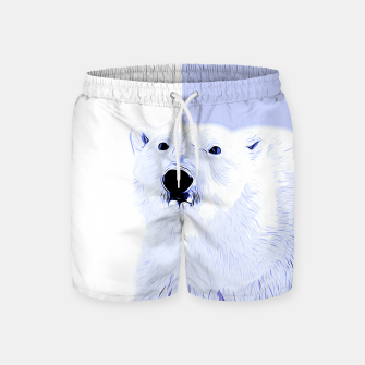Thumbnail image of polar ice bear vector art cool blue Swim Shorts, Live Heroes