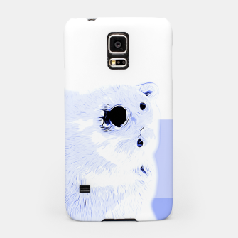 Thumbnail image of polar ice bear vector art cool blue Samsung Case, Live Heroes