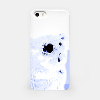 Thumbnail image of polar ice bear vector art cool blue iPhone Case, Live Heroes