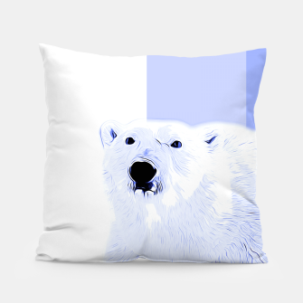 Thumbnail image of polar ice bear vector art cool blue Pillow, Live Heroes