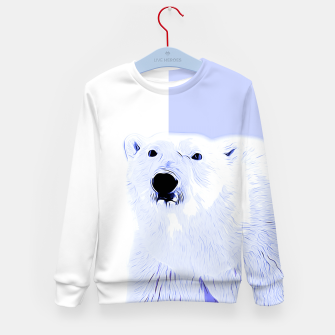 Thumbnail image of polar ice bear vector art cool blue Kid's sweater, Live Heroes