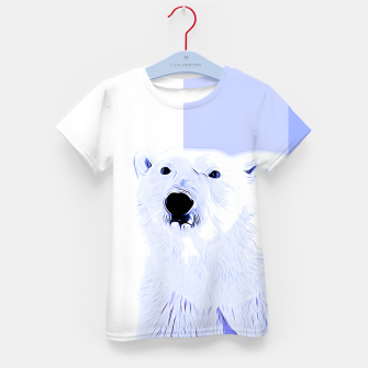 Thumbnail image of polar ice bear vector art cool blue Kid's t-shirt, Live Heroes