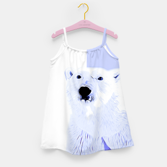 Thumbnail image of polar ice bear vector art cool blue Girl's dress, Live Heroes